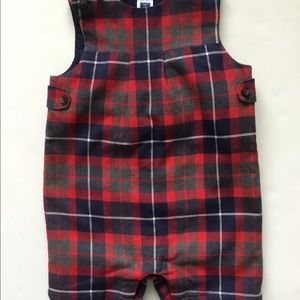 Janie & Jack Baby Boy Holiday Flannel Romper 6-12